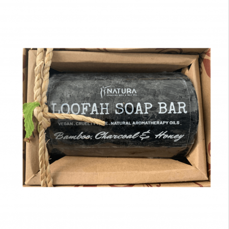 Bamboo, Charcoal & Honey Loofah Soap Bar