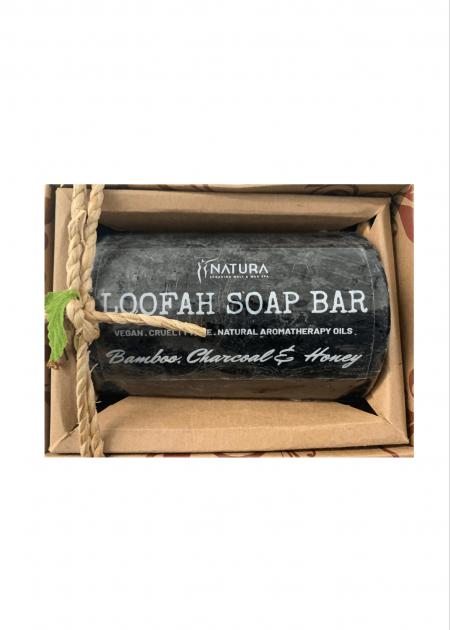 Bamboo, Charcoal & Honey Loofah Soap Bar