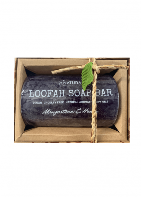 Mangosteen & Honey Loofah Soap Bar