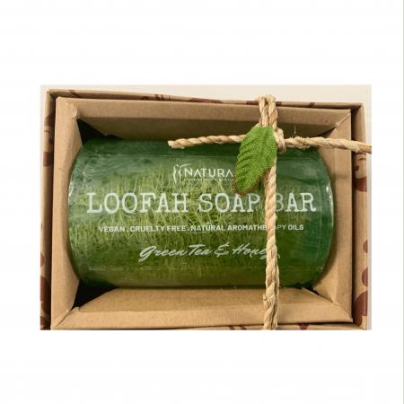 Green Tea & Honey Loofah Soap Bar
