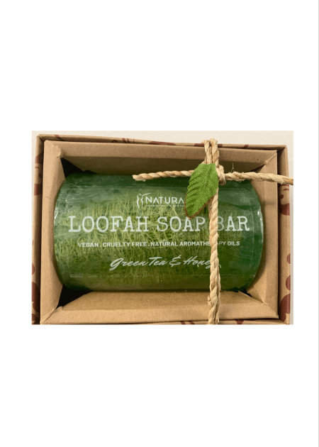 Green Tea & Honey Loofah Soap Bar