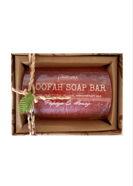 Papaya & Honey Loofah Soap Bar