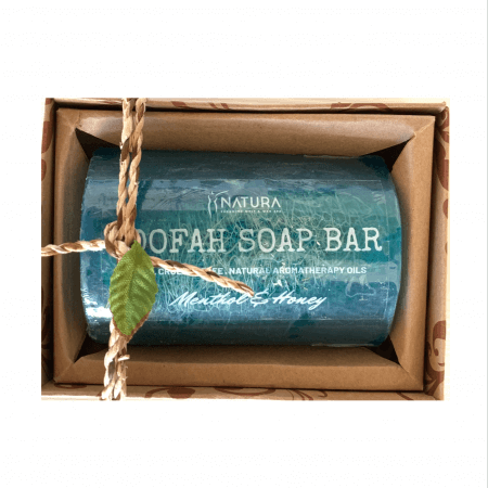 Menthol & Honey Loofah Soap Bar